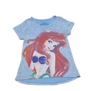 DISNEY The Little Mermaid Girls Soft Flowy Tee
